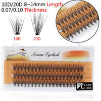 HOT 60 Clusters False Eyelashes Flare Individual Eye Lashes Extension C D Curl