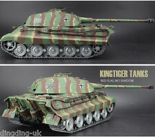 Heng Long King Tiger Radio Remote Control Rc Tank  Porsche Turret Platinum  UK