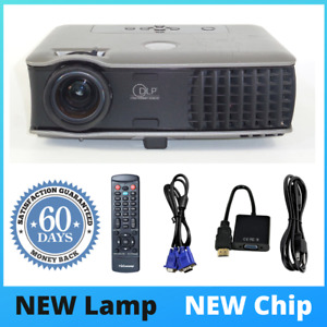 Dell 2400MP DLP Projector, NEW Lamp - NEW Chip, 3000 ANSI HD 1080i