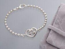 S6337M Authentic GUCCI Heart-shape SV925 Bracelet