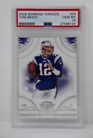 2008 Donruss Threads #23 Tom Brady Patriots 🔥 PSA GEM MINT 10