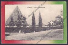 NOVARA CITTÀ 351 BICOCCA OSSARIO RISORGIMENTO Cartolina viaggiata 1915
