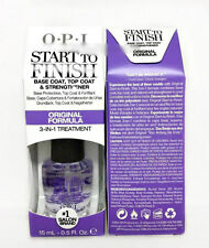 OPI START to FINISH- Original Formula- 3 in 1 treatment  0.5oz/15ml