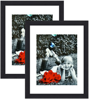 8x12 Picture Frames (2-Pack) - HIGH Definition Glass Front Cover  Display Poster