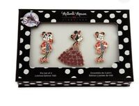 D23 Expo 2017 Minnie Mouse Signature Pin Set of 3 Limited Edition 500 Gift Boxed