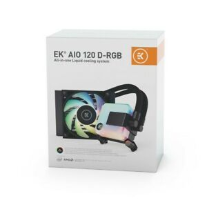 EK AIO 120mm D-RGB - EKWB All-in-One Liquid CPU Cooler  -  5 Year Warranty