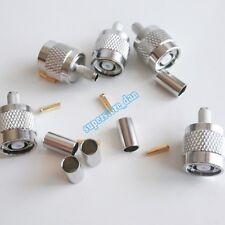 5X RP-TNC RPTNC Male plug crimp for RG58 RG142 RG400 LMR195 cable RF Connector