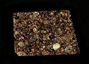 Meteorite transparent polished thin section Gandom Beryan (L3,S1,W1) Iran