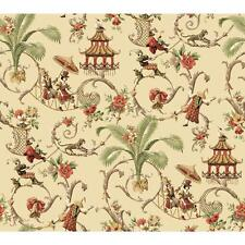 WALLPAPER BY THE YARD Waverly Wallpaper WA7770 Mandarin Prose Oriental Asian Toi