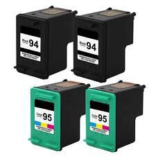 4 pk 94 Black & 95 Color Ink For HP PSC 1600 1610 2350 2355 Officejet 100 150