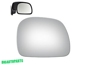 Mirror Glass Replacement for 1999-2016 Ford F-250 Super Duty Passenger Side RH