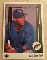 1989 Upper Deck Gary Sheffield Baseball Card Rookie (RC) #13 High Grade!