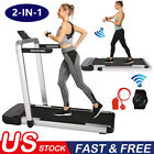2-IN-1 Treadmill Electric Motorized Folding 3.25HP Running Jogging Machine Home