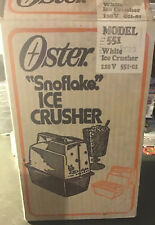 Vintage Oster Snoflake Ice Crusher 551 In Box With Paperwork For Parts