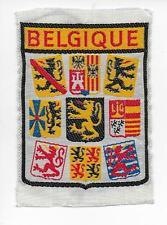 Belgium Belgique Old Woven Travel Souvenir Patch Coat of Arms Crest