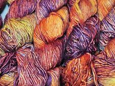 ARCHANGEL Purple+Orange 150yd Skein Malabrigo SILKY MERINO Silk+Wool Luxury YARN