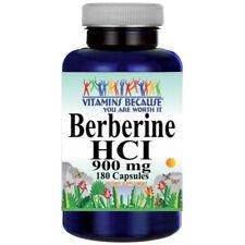 Berberine HCI 900mg 180caps (Berberis Aristata) by Vitamins Because