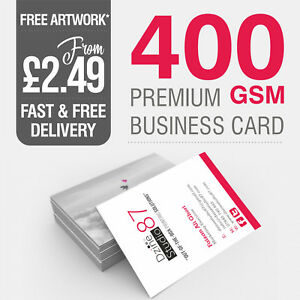 100 Printed Business Cards FULL COLOUR 350gsm/400gsm Card - Quantity Discount