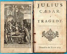 Shakespeare; Julius Caesar; 1709; Tonson First Edition; Nicholas Rowe editor