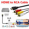 1080P HDMI Male To 3RCA AV Composite Audio Connector Adapter Cable Cord For TV