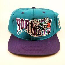 Vintage 90's Charlotte Hornets NBA G-Cap Snapback Hat Big Logo Rare Deadstock