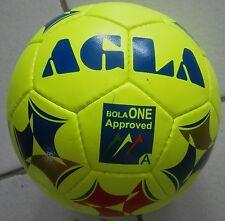 Stock 10 Palloni Calcio a 5 AGLA Bola One Approved Fluo/Blu