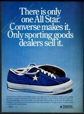 1974 Converse one star blue suede sneakers shoe photo vintage print ad