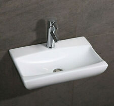 Bathroom Wall Hung Ceramic White Gloss Basins with Fixing - Wall Mounted Sinks