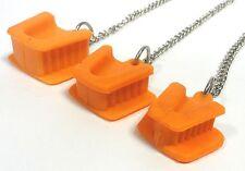 3 piezas dentales de silicio de Boca con Lengua Guardia Bite bloque naranja cadena libre de látex