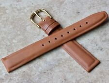 Clean lines supple classic Calfskin Leather 16mm vintage watch strap Waterproof
