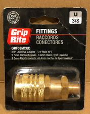 Grip Rite 3/8 in. Universal Brass Coupler Male NPT GRF38MCUD2