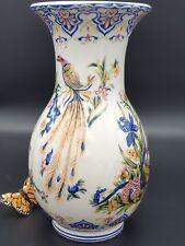 Ceramiche Vase Peacock Italian Floral Artistica 4523 Hallmark Let us know