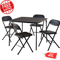 Folding Chairs and Table Card Game Table Set Party Supplies Foam Padded Seat NEW
