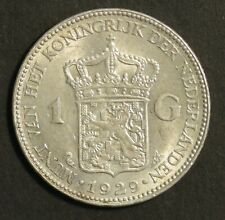 Netherlands 1 Guilder 1929 Nice Uncirculated Silver