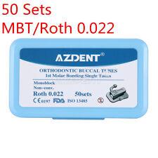 200Pcs AZDENT Dental Orthodontic Monoblock Buccal Tubes 1st Molar MBT/Roth 0.022