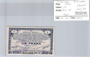 Good Pas De Calais - 1 Franc 23/4/15 - 2 300 000 F Series 3a N°63195
