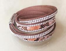 Crystal Leather Wrap Costume Bracelets