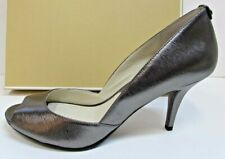 Michael Kors Size 9 Leather Metallic Gray Heels New Womens Shoes