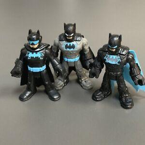 Lot 3 Pcs Fisher Price Imaginext DC Super Friends BLUE BATMAN figure Toys RARE
