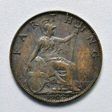 GB EDWARD VII BRONZE FARTHING 1902 ++ HIGH GRADE!! ++ [969-18]