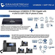 Grandstream UCM6204 IP PBX Gigabit with 4-UNITS GXP1782 IP phone 8 lines New