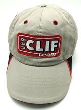 CLIF BAR TEAM beige adjustable cap / hat - 100% cotton