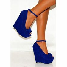 Unbranded Faux Suede Wedge Very High (greater than 4.5\) Women's Heels""