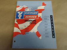 1976 Evinrude Service Shop Manual 15 HP 15604 15605 15654 15655 OEM Boat x NEW