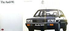 Audi 90 Mk 1 1986 Original UK Market Sales Brochure No. 599/1190.09.25
