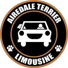 "Limousine Airedale Terrier 5"" Dog Sticker"