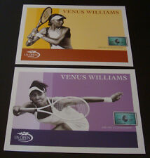 Lot of 2 2007 Us Open Tennis Venus Williams Post Cards Souvenir American Express