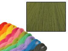 CYBERLOXSHOP PHANTASIA KANEKALON JUMBO BRAID OLIVE GREEN HAIR DREADS