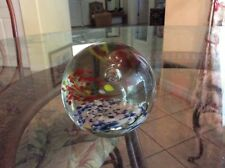 VINTAGE GLASS PAPERWEIGHT CONTROLLED BUBBLES BEAUTIFUL 4 COLORS