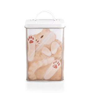 Cat In A Box Storage Tin | Metal Food Storage Container | Perfect For Cat Treats